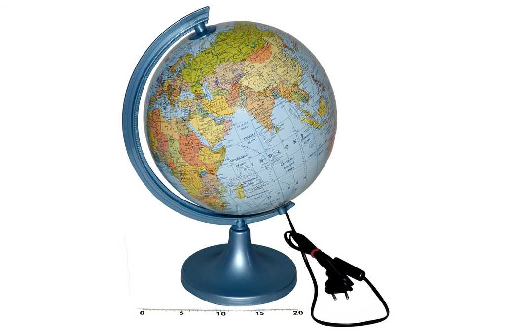 Globus Zeměpisný 250mm svítící