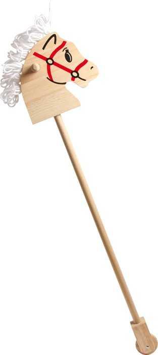 Dřevěný koníček na tyči
