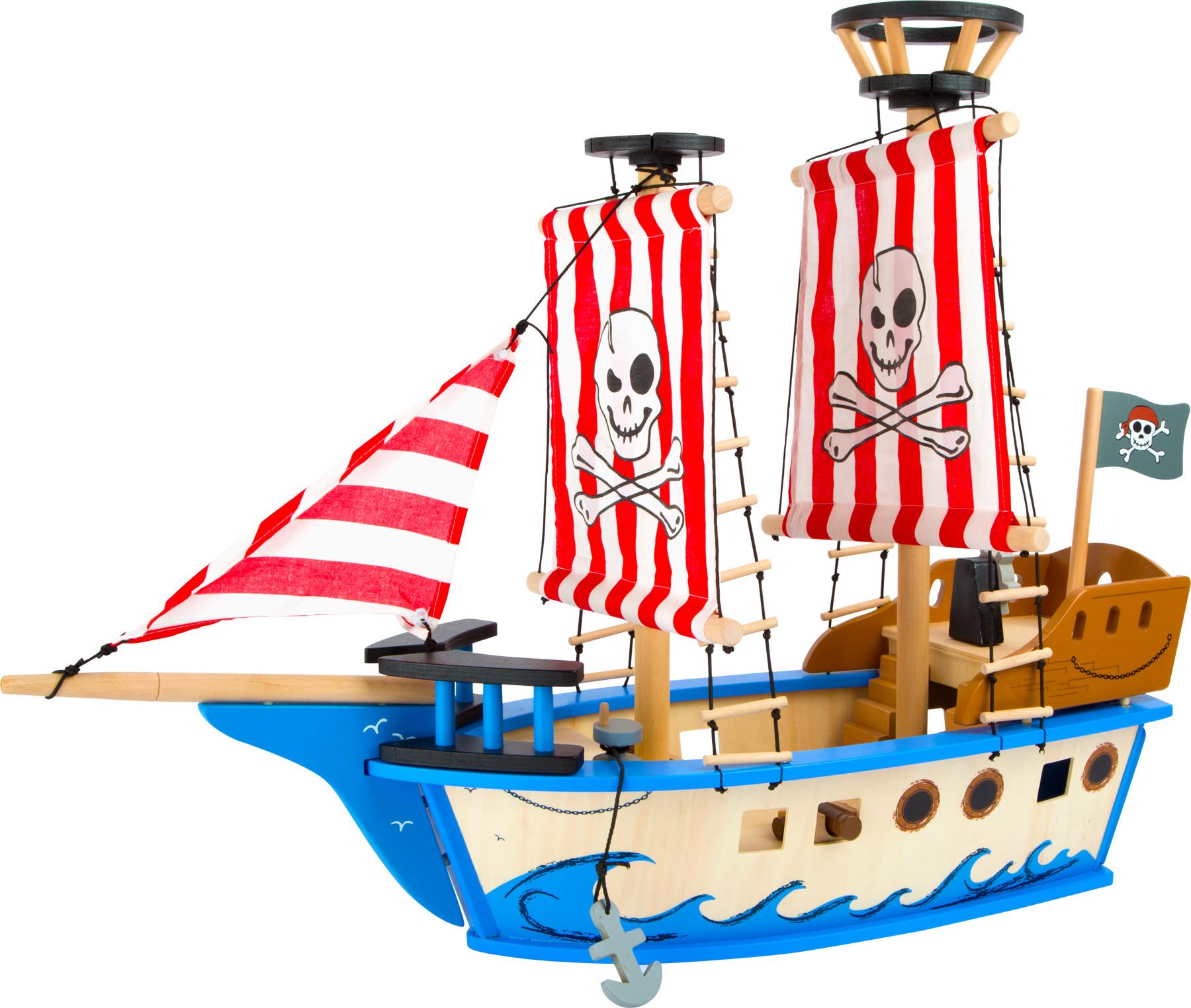 Dřevěná pirátská loď Jack
