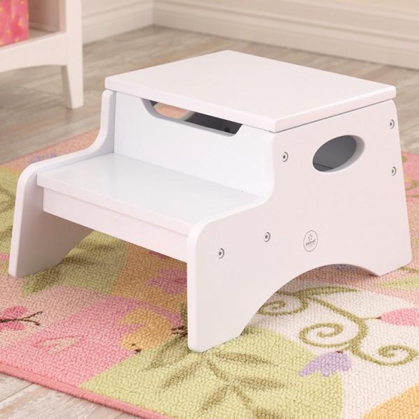 KidKraft dřevěná stolička bílá