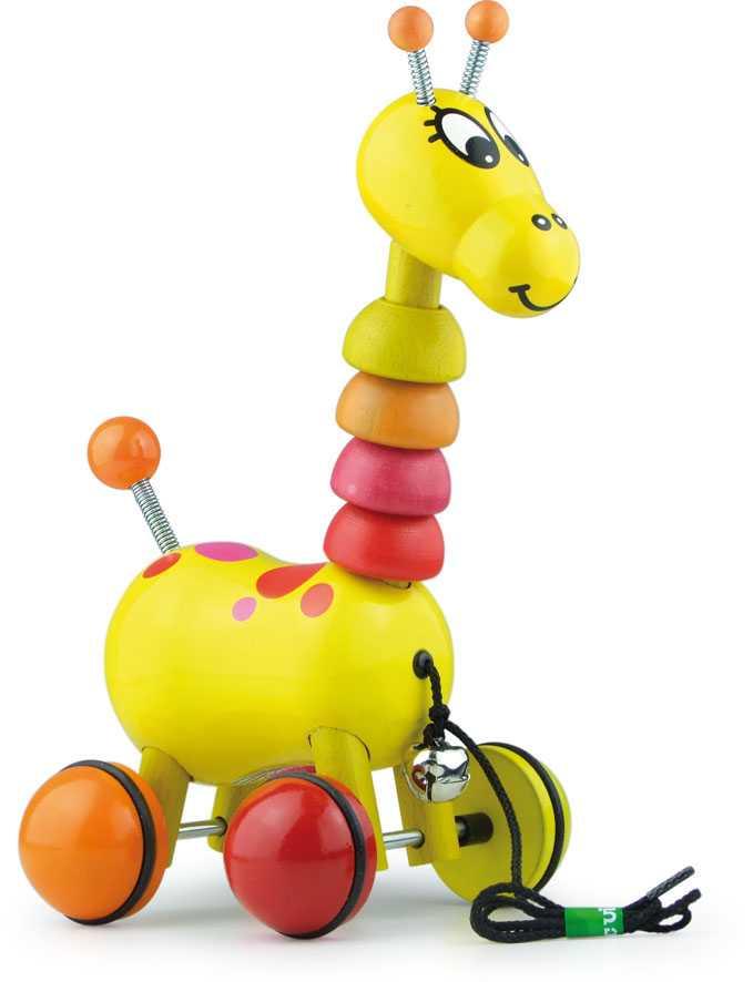 Dřevěná hračka Vilac - Dřevěná tahací žirafa