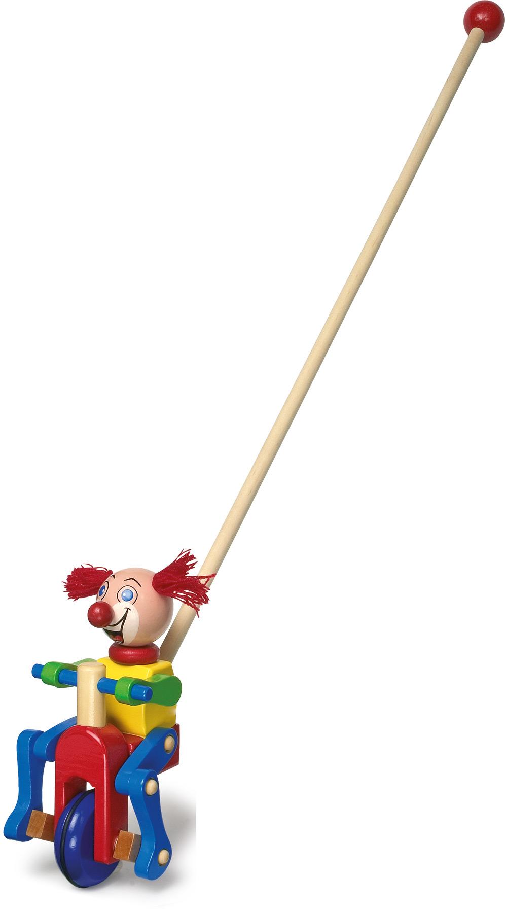 Tahací hračky - Jezdík klaun