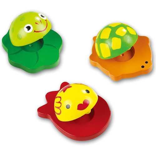 Dřevěné hračky - Dětské hudební nástroje Kaskaněty zvířátka