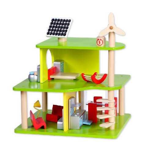 Moderní dřevěný domeček pro panenky