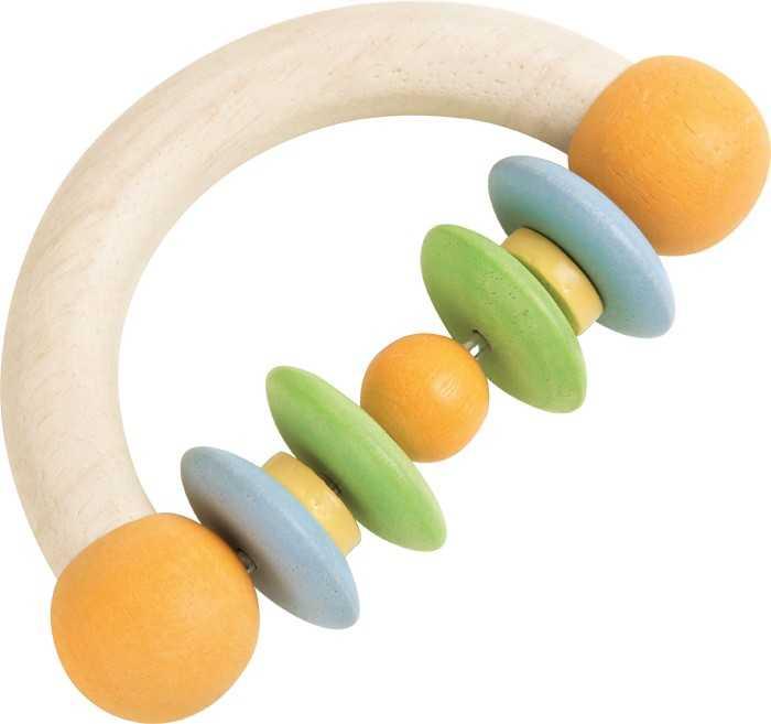 Dřevěné hračky pro nejmenší - Chrastítko půlkruh