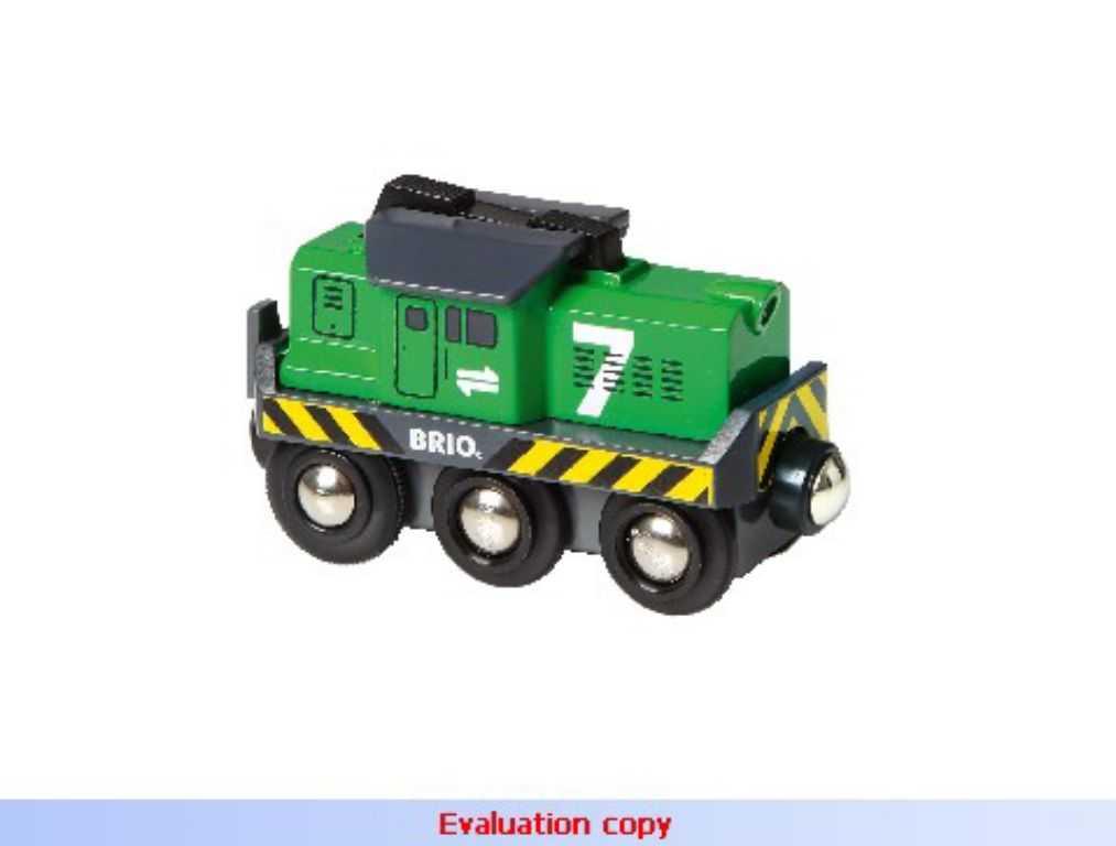Vláček vláčkodráhy - Elektrická lokomotiva zelená