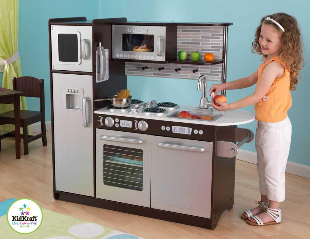 Dřevěné hračky - KidKraft Kuchyňka UPTOWN ESPRESSO