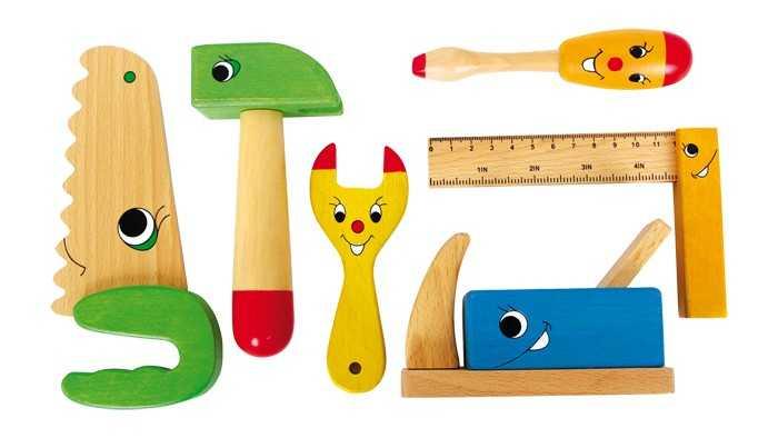 Dřevěné hračky - Veselé dřevěné nářadí