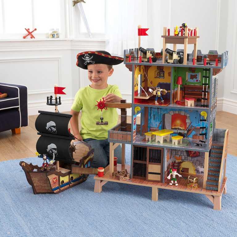 Dřevěné hračky - KidKraft Hrací set Piráti