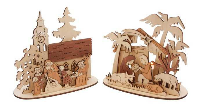 Vánoční dekorace - Stojánek na čajové svíčky 1ks