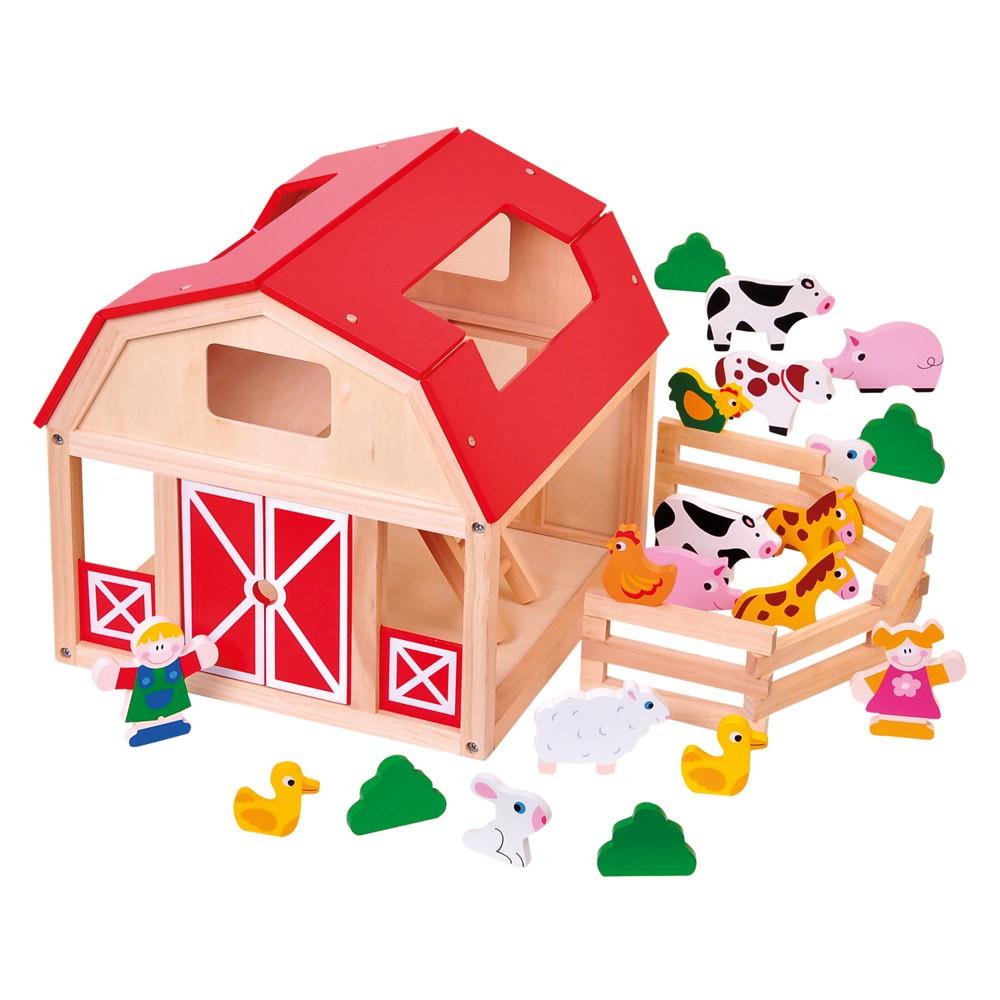 Dřevěné hračky - FARMA se zvířátky