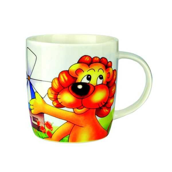Porcelánový hrneček - Lev