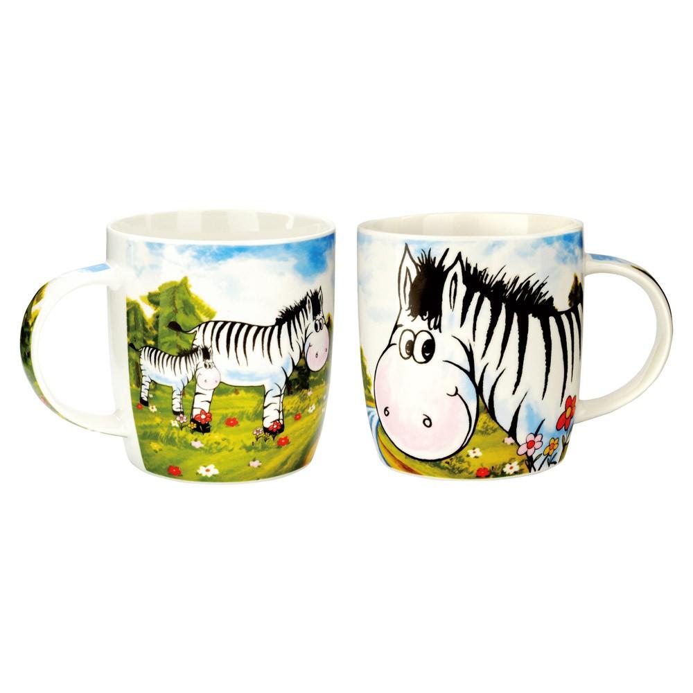 Porcelánový hrneček - zebra