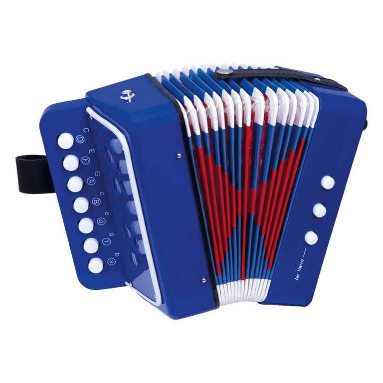 Dřevěné hračky - hudební nástroje - Tahací harmonika