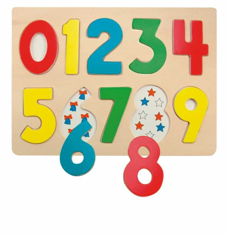 Woody - Puzzle na desce Číslice s beruškami