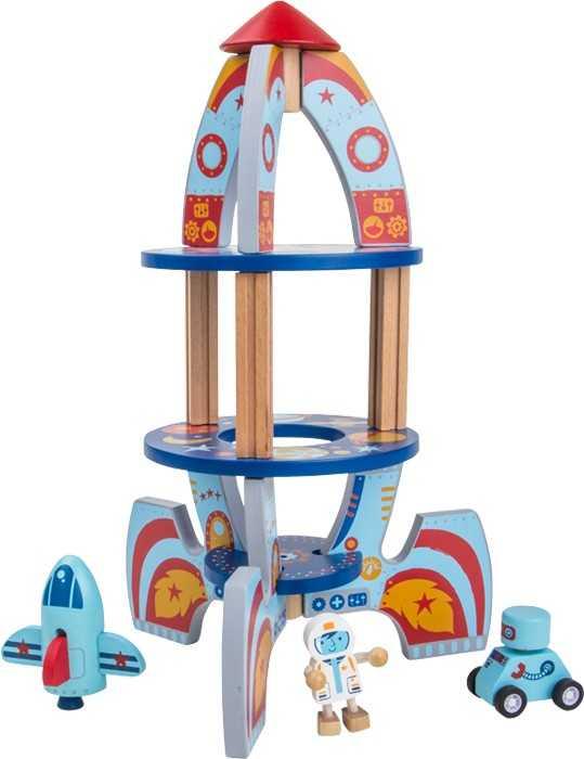 Dřevěné hračky pro kluky - Vesmírná raketa