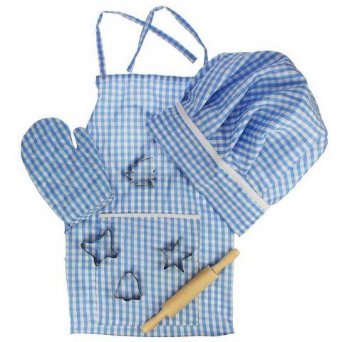 Bigjigs Toys modrý set šéfkuchaře