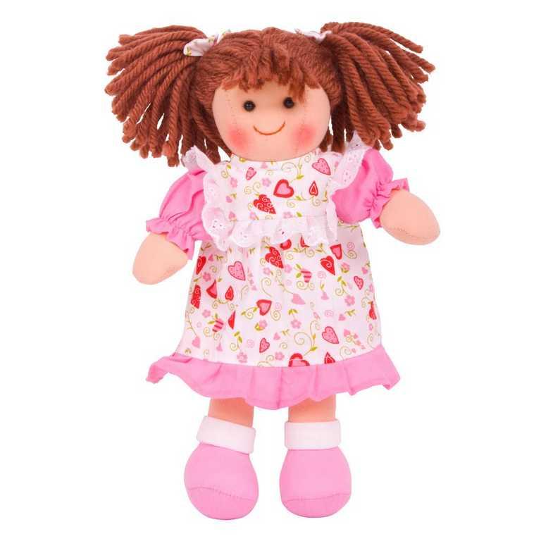 Bigjigs Toys látková panenka Amy 25 cm