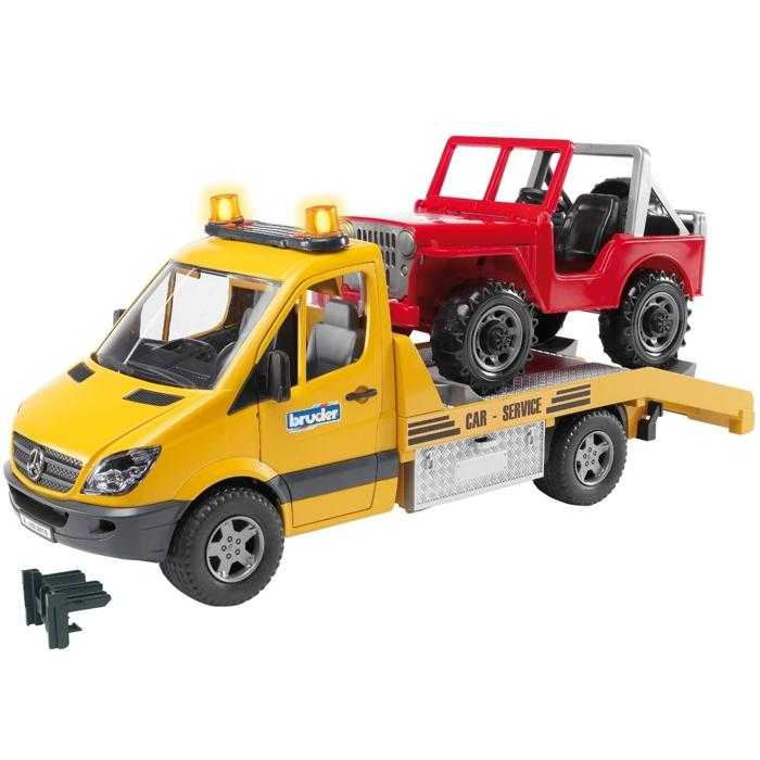 Bruder - MERCEDES BENZ Sprinter- odtah, jeep