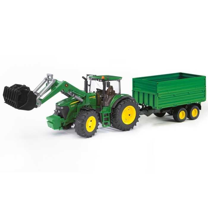 Bruder - Traktor JOHN DEERE 7930 + vůz