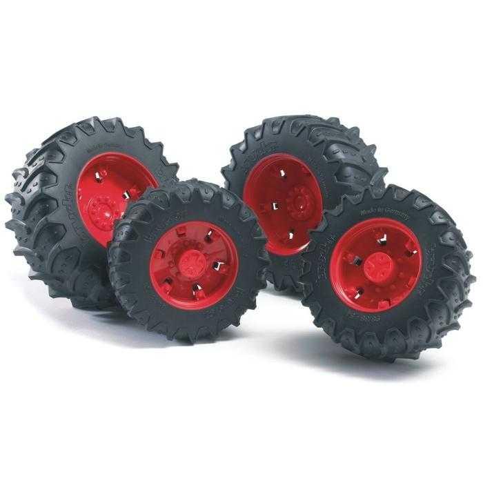 Bruder - Dvojitá kola pro traktory řady 3000 - červená