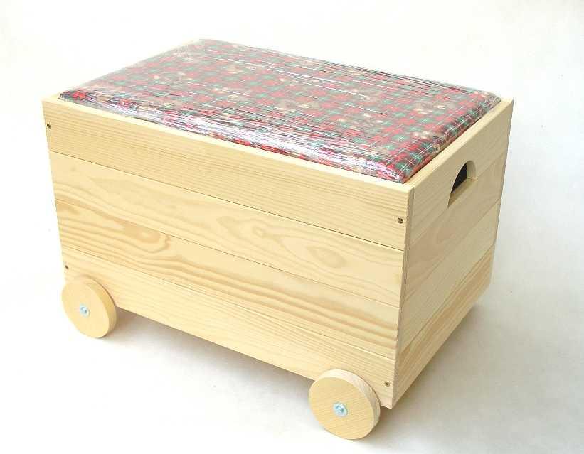 Dřevěná truhla na hračky - pro holky