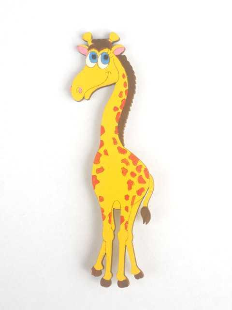 Dřevěné dekorace - dřevěné magnetky - Žirafa