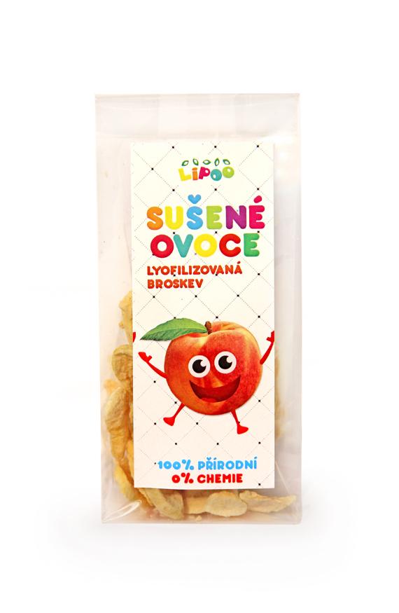 Sušené lyofilizované ovoce - Broskev