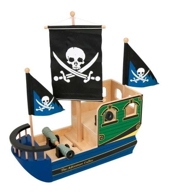 Dřevěné hračky - Dřevěná pirátská loď Lebka
