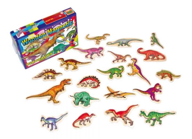 Dřevěné dekorace - dřevěné magnetky - Dinosauři