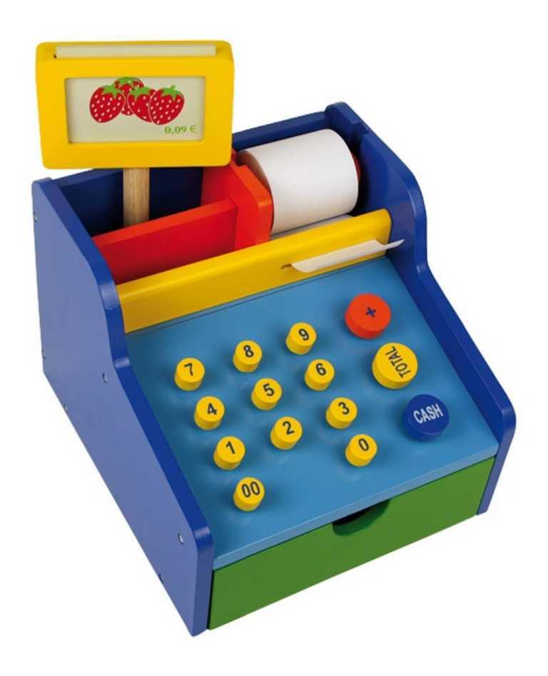 Dřevěné hračky pro holky - Dětská pokladna Profi