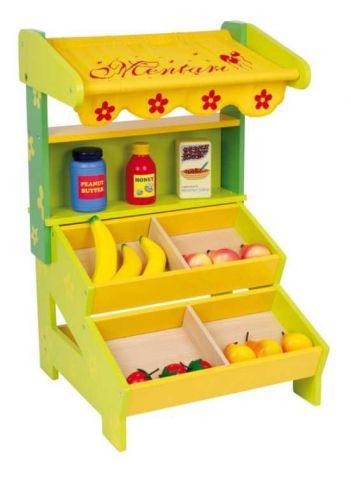 Dřevěná hračka - Dětský dřevěný prodejní stánek Nora