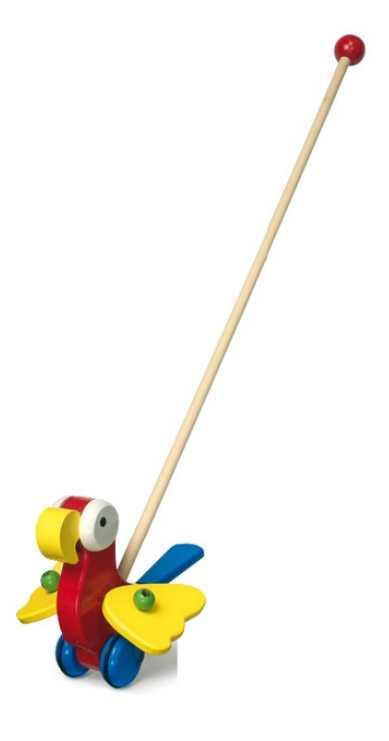 Tahací hračky - Jezdík papoušek