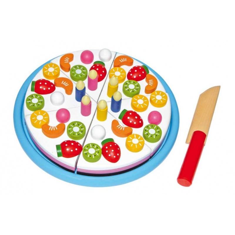 Dřevěné hračky pro holky - Dřevěný narozeninový dort