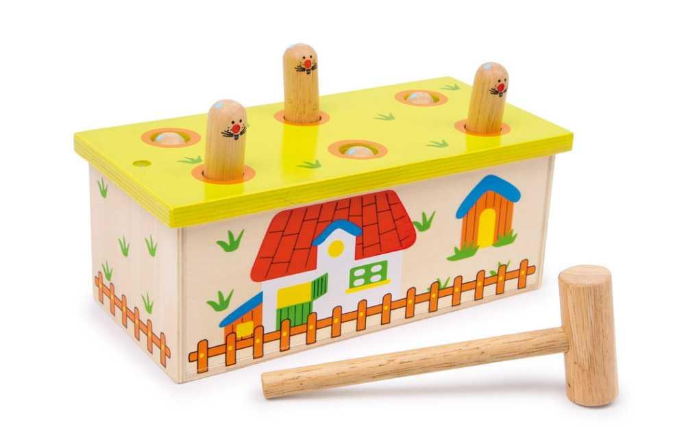 Dřevěné hračky pro kluky - Zatloukej červa
