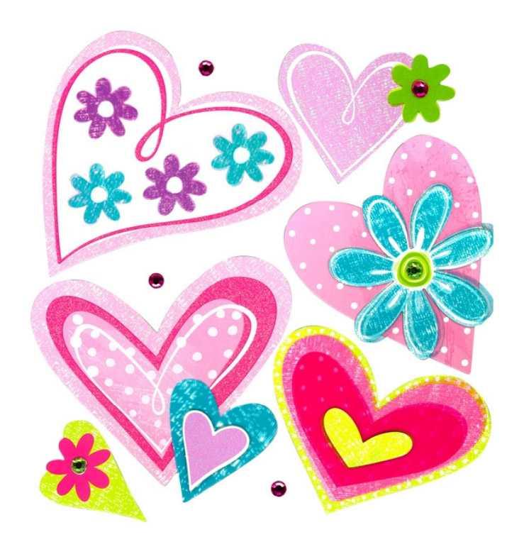 Samolepící dekorace na zeď Srdce