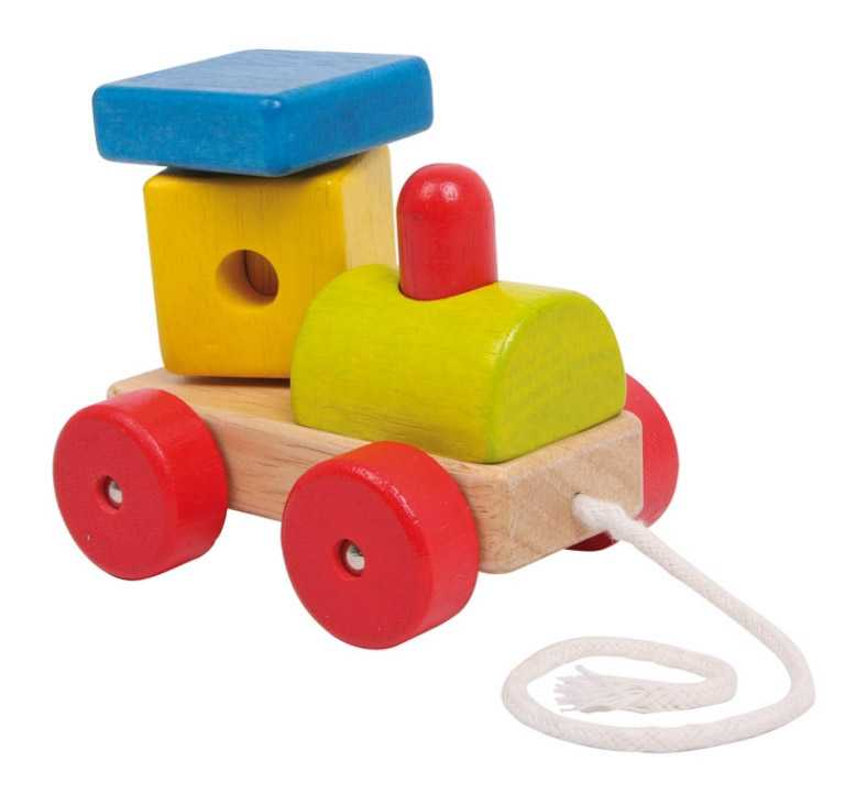 Dřevěné tahací hračky - Tahací mašinka