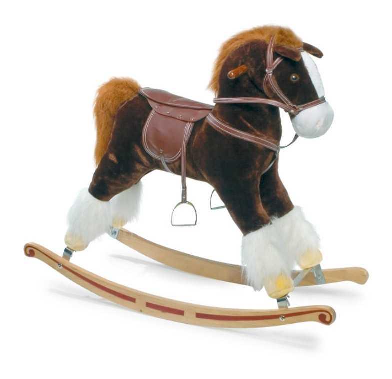Dřevěný houpací kůň se zvuky Blesk