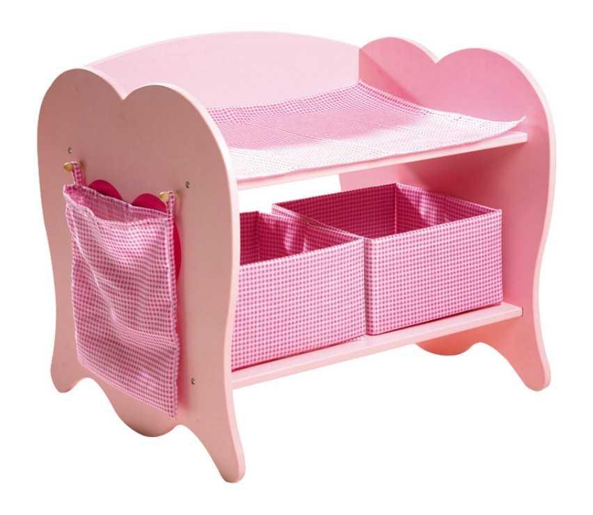 Dřevěný přebalovací pult pro panenky