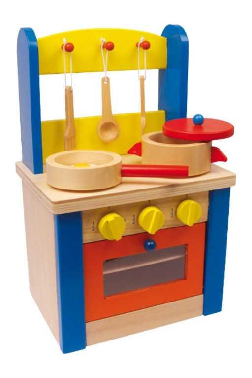 Dětská dřevěná kuchyňka pro panenky