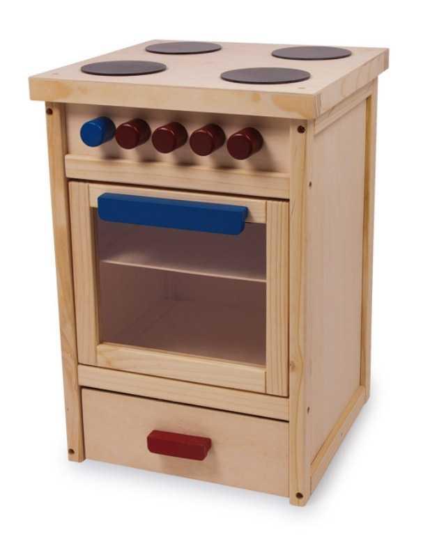 Dřevěné hračky pro holky - Dětský dřevěný sporák