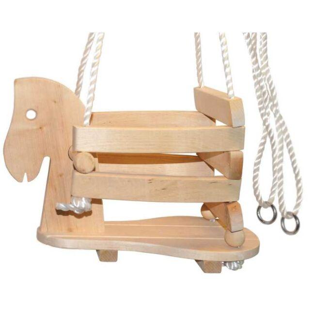 Dřevěná houpačka kůň