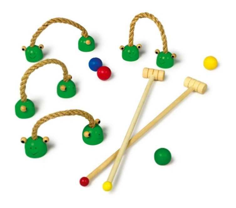 Dřevěné hry - Dětský kroket na doma