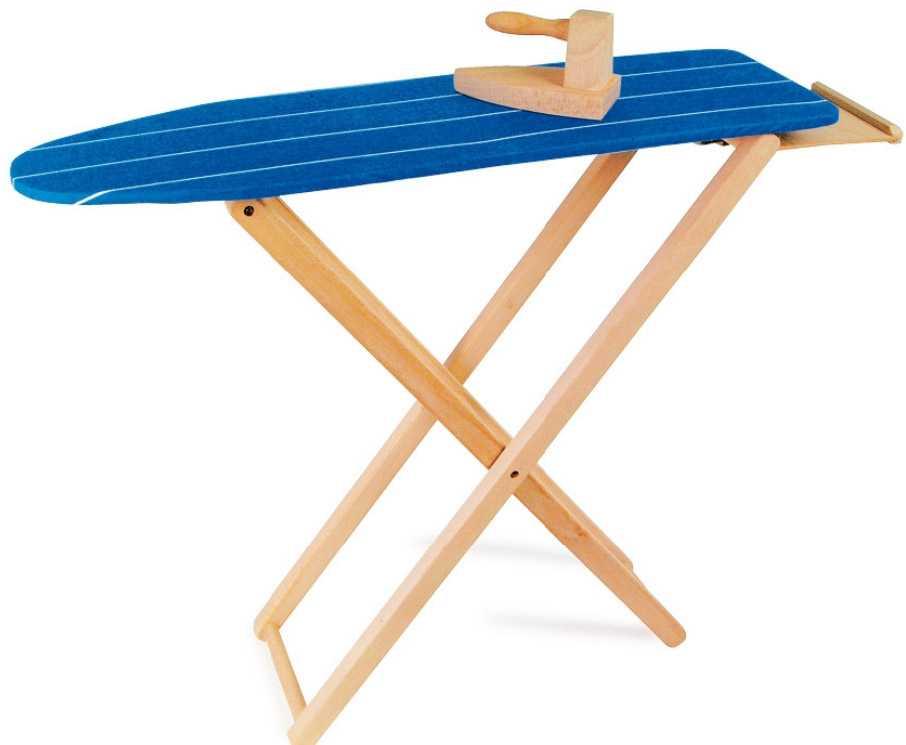 Dřevěné hračky pro holky - Dětské dřevěné žehlící prkno