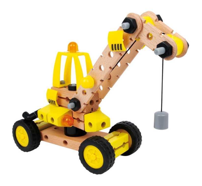 Dřevěná stavebnice skládací jeřáb