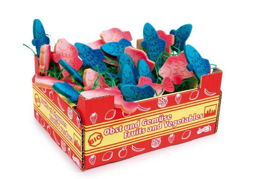 Dřevěné hračky pro holky - Kuchyně - Bednička Ryby