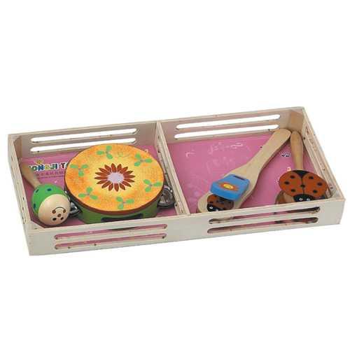 Dřevěné hračky - Dětské hudební nástroje - Sada A