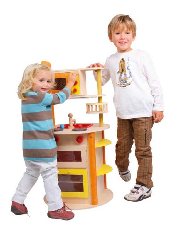 Dětská dřevěná kuchyňka Vše v jednom Leonie