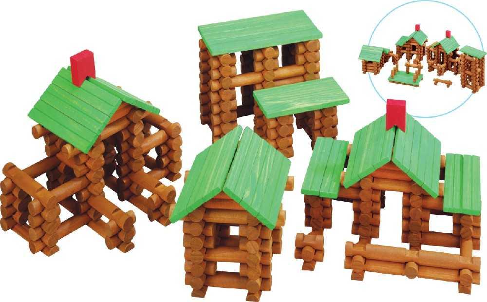 Dřevěná stavebnice Maxim Srubová stavebnice - 300 kusů
