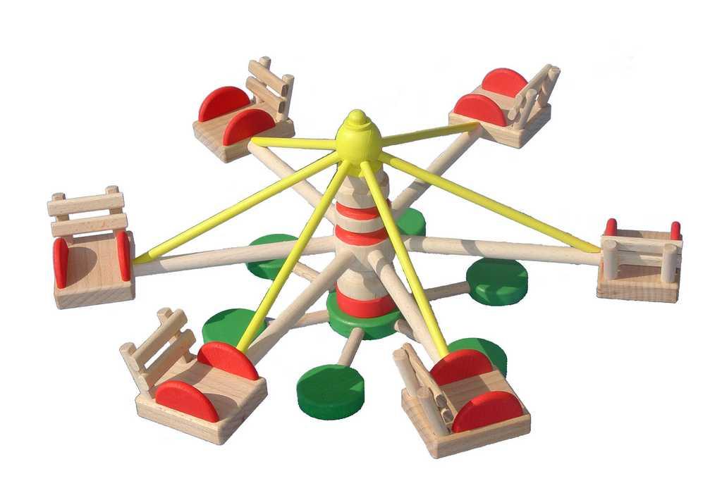 Ceeda Cavity - dřevěná hračka - Dětský kolotoč